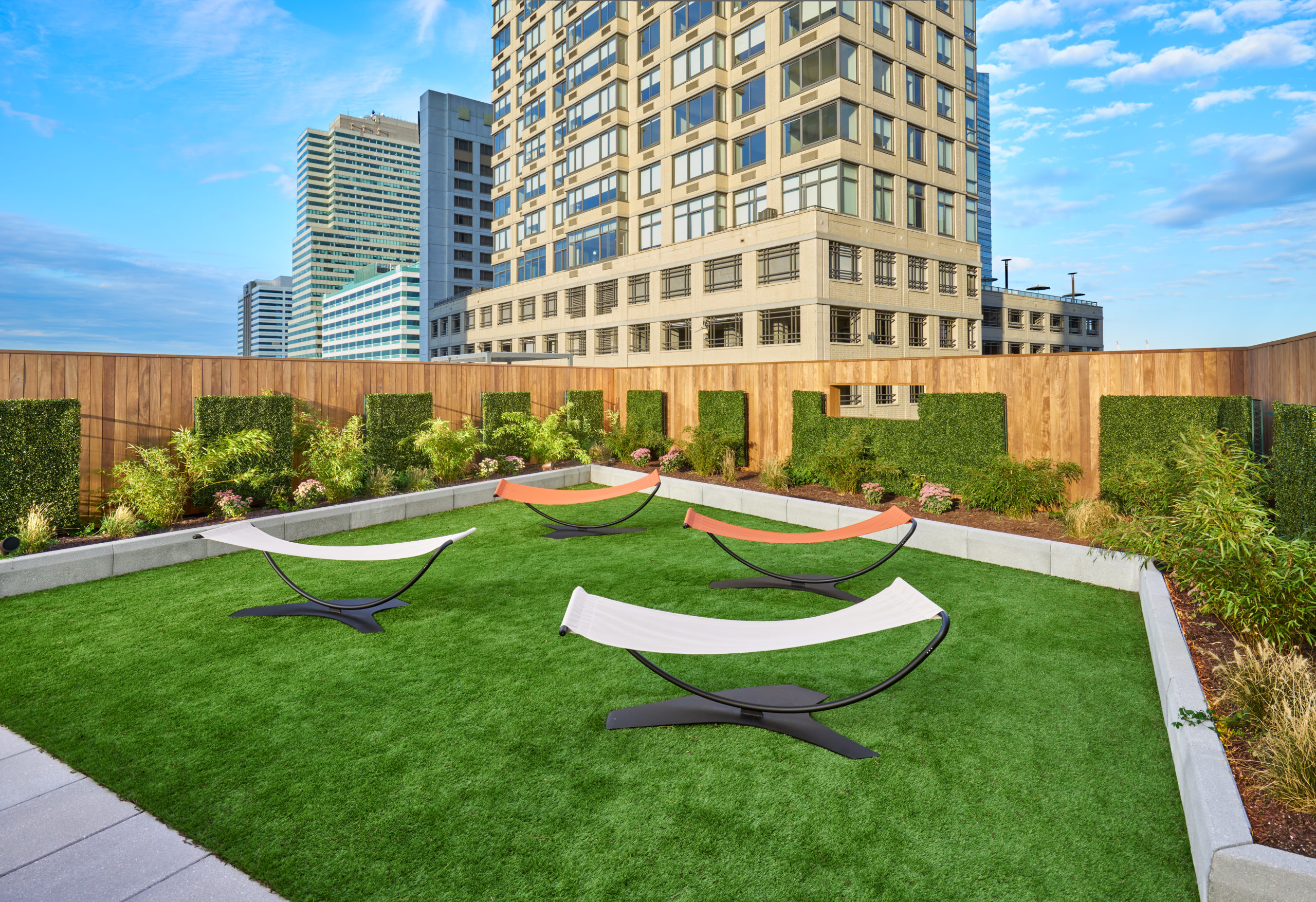 vyv south roof deck lounge area