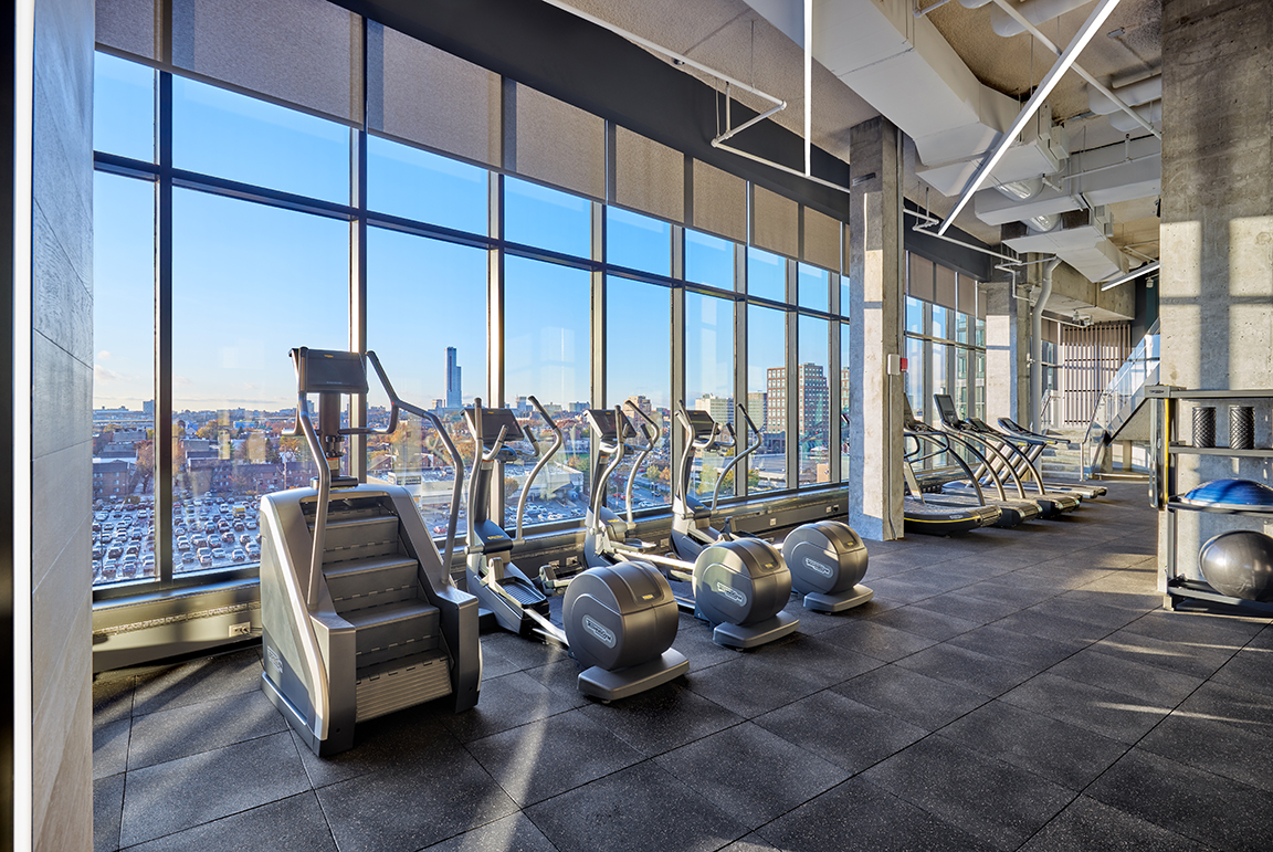 vyv south fitness center with stair masters and ellipticals