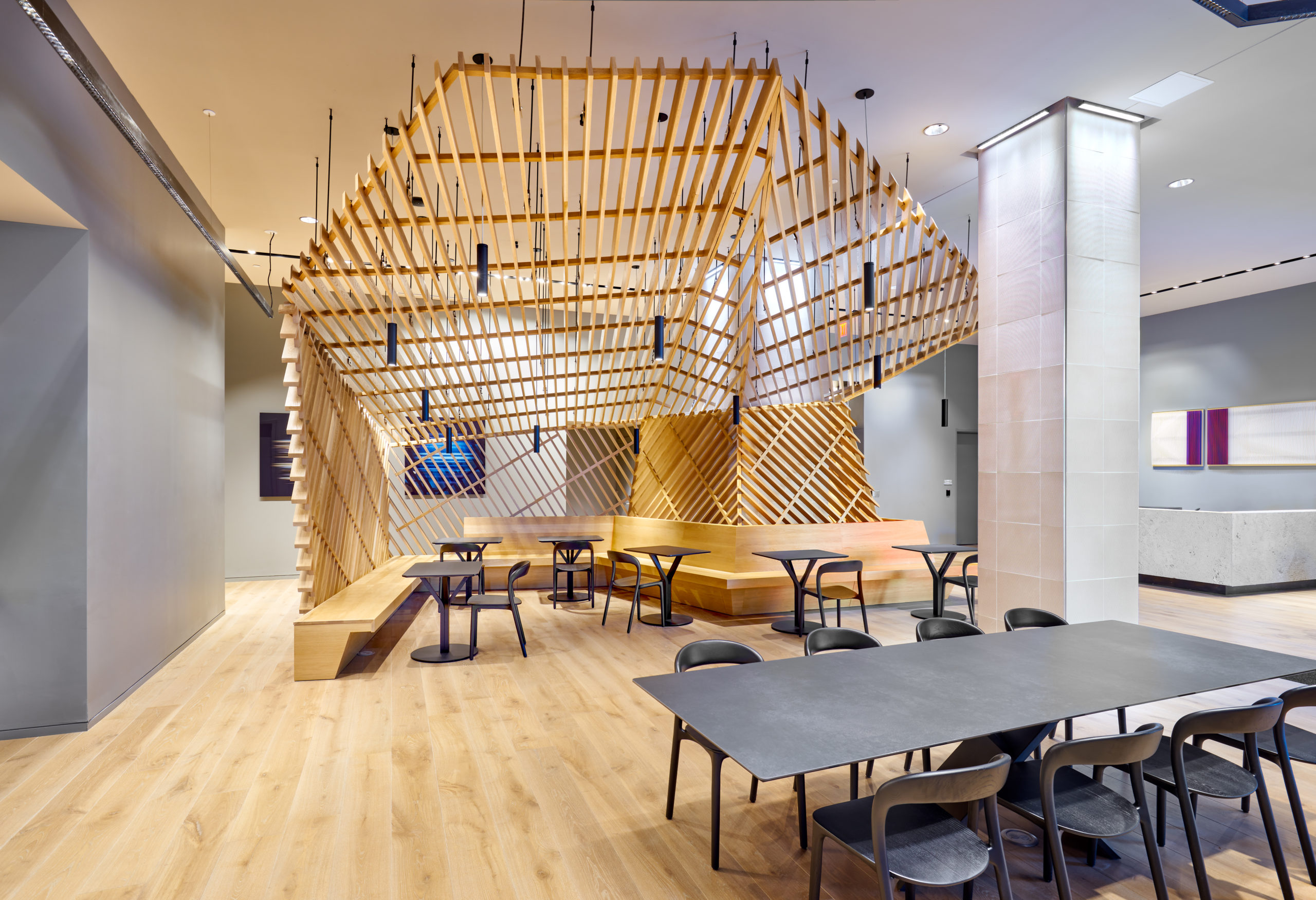 cafe working space for resident amenities